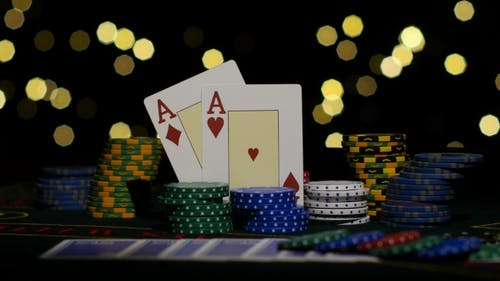 Two Red Aces, Chance To Win. Poker.