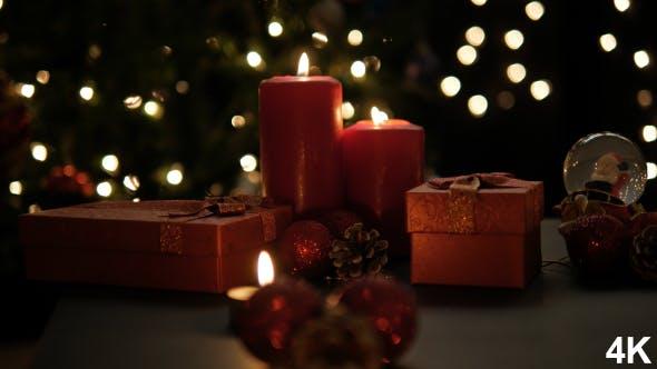 Thumbnail for Weihnachtsgeschenk Box und Kerzen