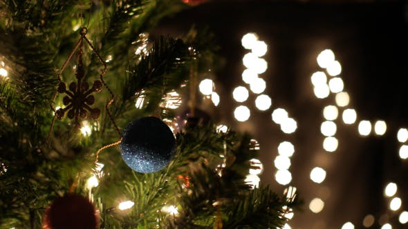 Thumbnail for Christmas Tree And Blinking Lights