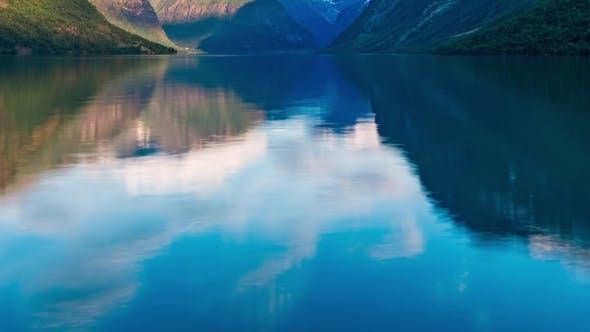 Thumbnail for Lovatnet Lake Beautiful Nature Norway .