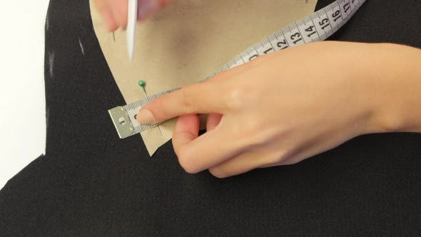 Thumbnail for Draw White Chalk On Black Fabric.