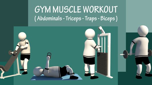 Thumbnail for Gym Muscle Workout (Abdominals-Triceps-Traps-Biceps)