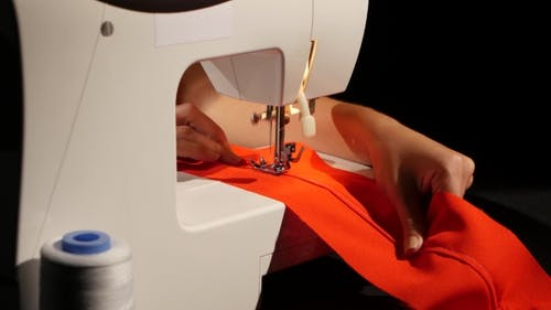 Sew On a Sewing Machine.