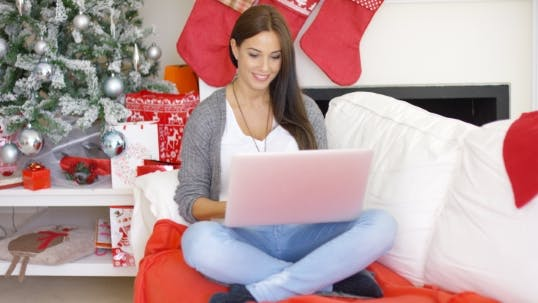 Thumbnail for Relaxed Young Woman Working On Her Laptop