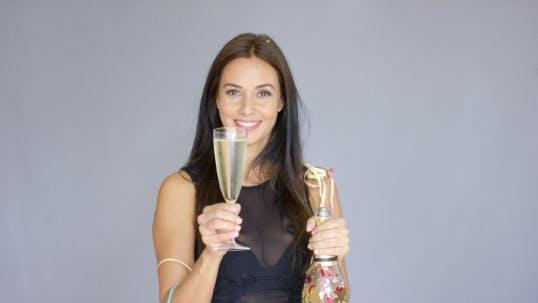 Thumbnail for Vivacious Woman Partying At New Year