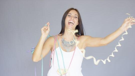 Thumbnail for Vivacious Woman At a Fun New Year Party