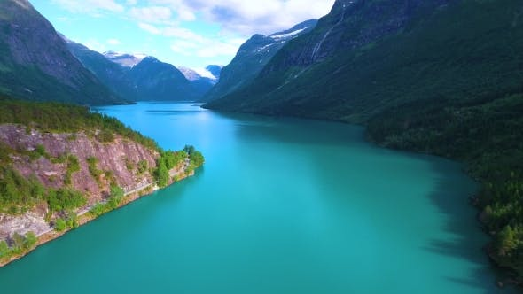 Cover Image for Lovatnet Lake Beautiful Nature Norway.