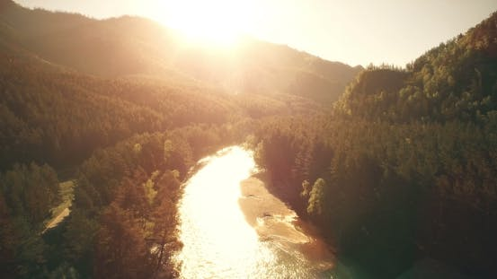 Thumbnail for Fresh Cold Mountain River At Sunny Summer Morning.