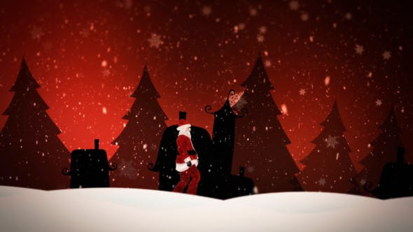 Thumbnail for Santa Claus Walking in Snow Covered Field