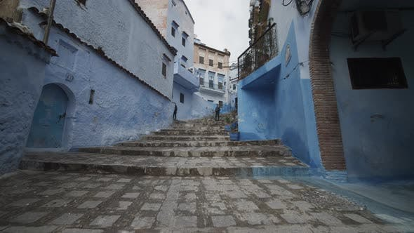Thumbnail for SLOW MOTION: BEAUTIFUL BLUE CITY, CHEFCHAOUEN IN MOROCCO