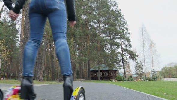 Thumbnail for Guys Ride On Segway With Helmets