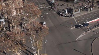 Pedestrians in Barcelona