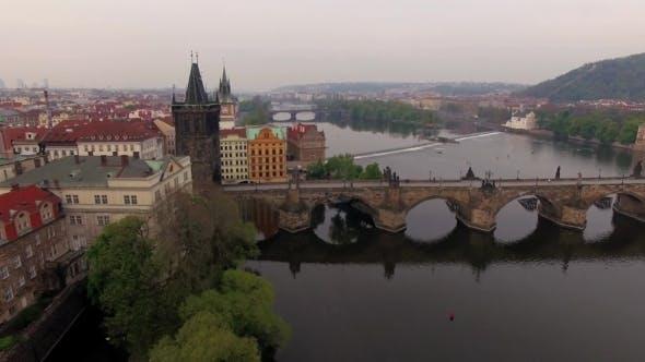 Thumbnail for Aerial View Of Charles Bridge In Prague, Czech Republic