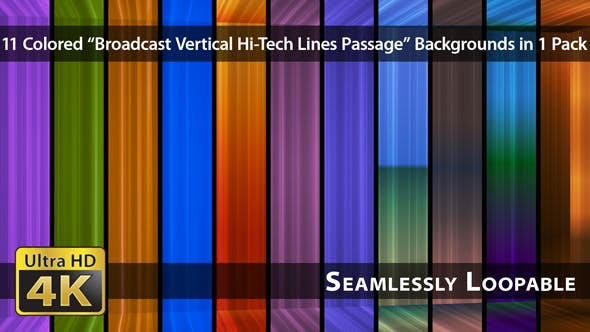 Thumbnail for Broadcast Vertical Hi-Tech Lines Passage - Pack 02