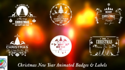 Thumbnail for Christmas New Year Badges - Apple Motion