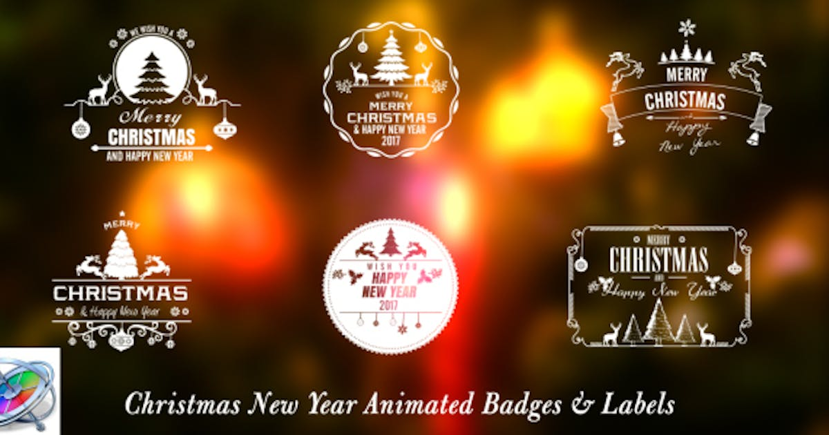 Download Christmas New Year Badges - Apple Motion by StrokeVorkz