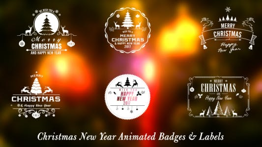 Thumbnail for Christmas New Year Badges