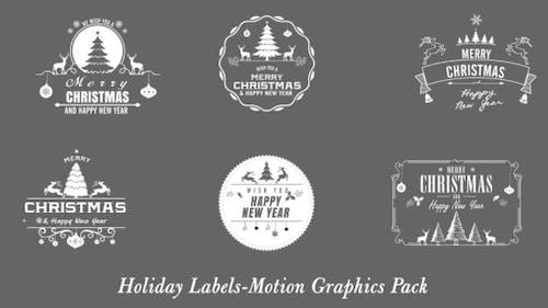 Christmas New Year Badges