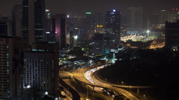 Thumbnail for Night Transport Traffic In Kuala Lumpur, Malaysia
