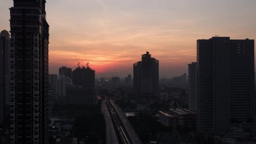 Dawn In Bangkok, Thailand