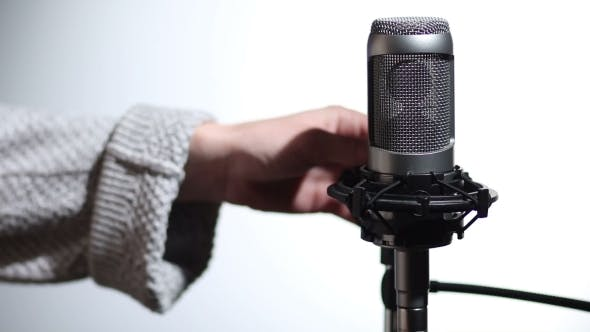 Thumbnail for Microphone And Pop Filter In Sound Studio