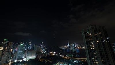 Of Hong Kong In Night Time
