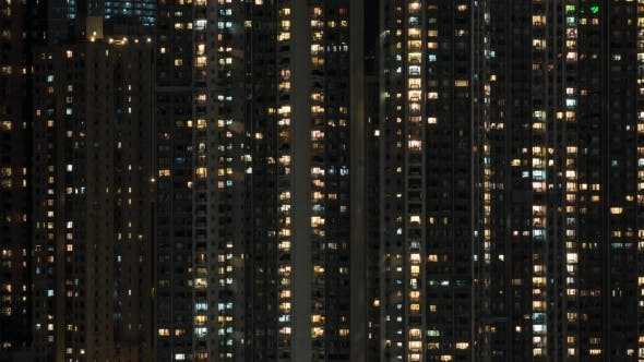 Thumbnail for Window Lights In High-rise Apartment Block At Night