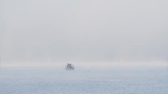 Thumbnail for Fishing Boat At Sunrise Fog