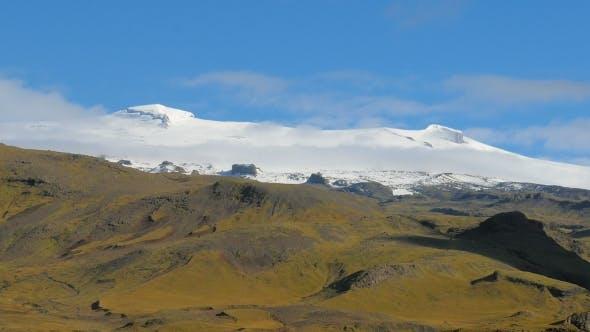 Thumbnail for Icelandic Volcano Eyjafjallajokull Covered Bright White Ice