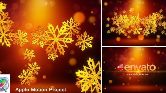 Thumbnail for Snowflakes Logo - Apple Motion
