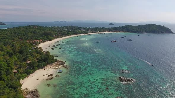 Thumbnail for Aerial View on Tropical Ko Lipe Island in Thailand