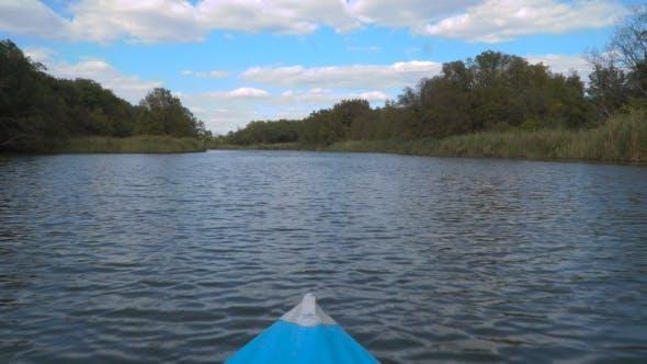 Kayak Sailing On The River