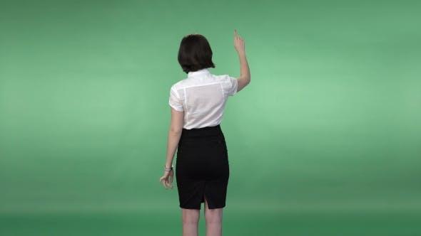 Thumbnail for Woman Flipping The  Virtual Screen