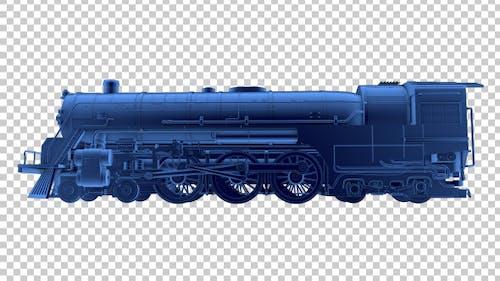 3D Locomotive Outline