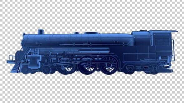 Thumbnail for 3D Locomotive Outline