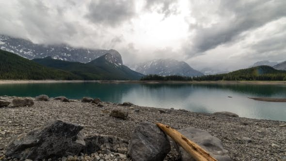 Thumbnail for Moody Clouds Over a Mountain Lake