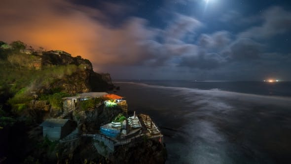 Thumbnail for Clouds And Moon Over Coast Of Bali