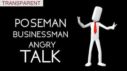 Poseman - Businessman Angry Talk