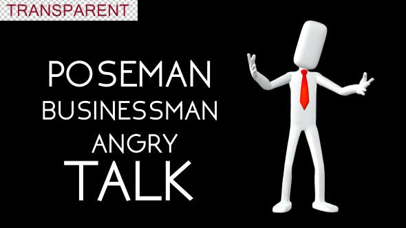Poseman - Businessman Angry Talk