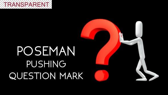 Poseman Pushing Question Mark