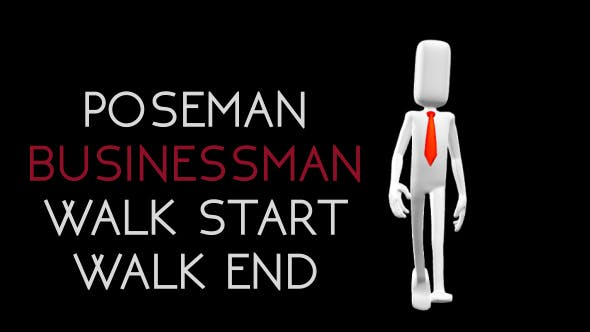 Thumbnail for Poseman - Businessman Walk Start Walk End