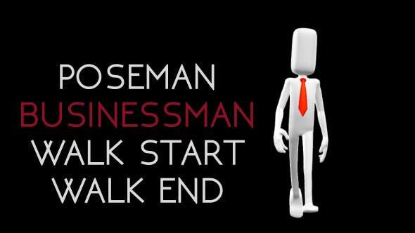 Poseman - Businessman Walk Start Walk End