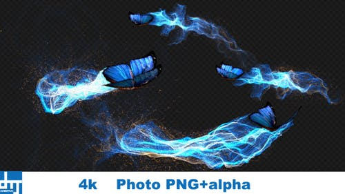 Blue Butterfly Gorgeous Particle Light Trailing Flying V2