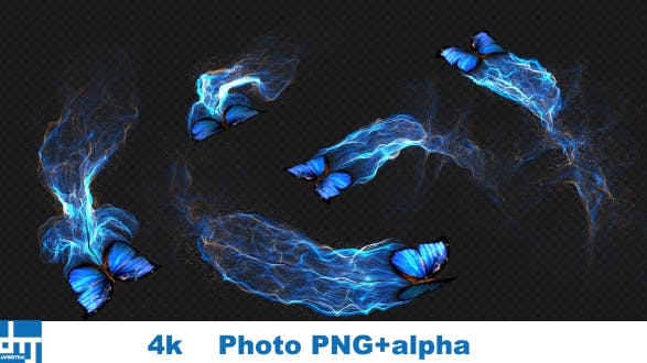 Blue Butterfly Gorgeous Particle Light Trailing Flying V3