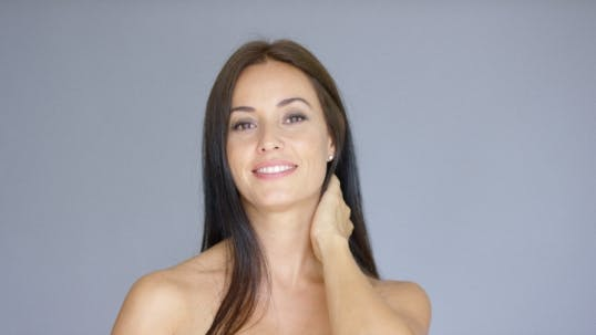 Thumbnail for Single Gorgeous Woman With Hand Behind Neck