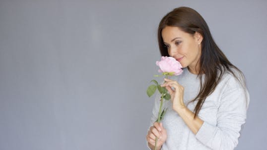 Thumbnail for Elegant Beautiful Woman Holding Rose Flower