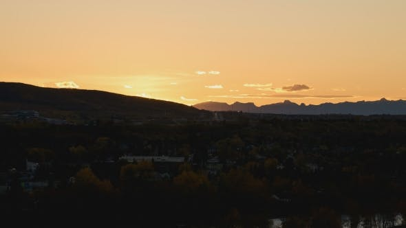 Thumbnail for Sunset Over The Rocky Mountains Near Calgary
