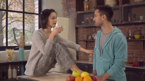 Newlyweds Spend Time In Apartment.