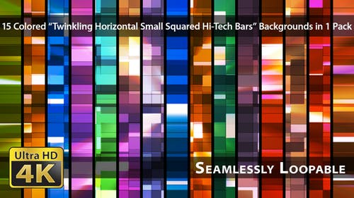 Twinkling Horizontal Small Squared Hi-Tech Bars - Pack 03