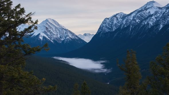 Thumbnail for Fog Forming And Moving Through a Valley In The Canadian Rocky Mountains